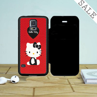 Hello Kitty Red Samsung Galaxy S5 Flip Case