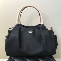 Kate Spade Black Nylon Classic Diaper Bag