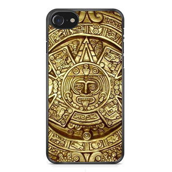 Aztec Mayan Calendar Gold iPhone 7 Case