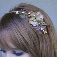 Woodland flower headband for women by BeSomethingNew on Etsy