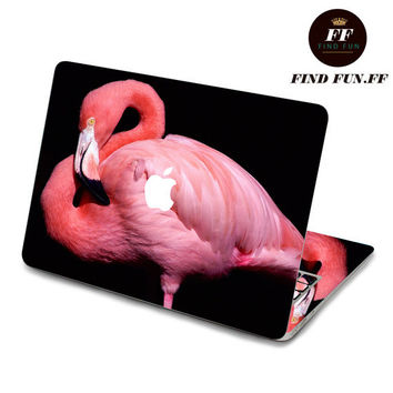 back cover of decal Macbook Air Sticker Macbook Air Decal Macbook Pro Decal 火烈鸟-060