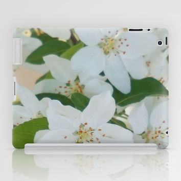 Crab Apple Tree Blossom  iPad Case by KCavender Designs