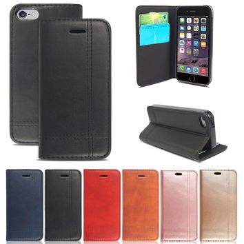 Luxury Wallet Flip Case Cover Magnetic Stand Card Pocket Book For Apple /Samsung
