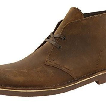 CREYON Clarks Men's Bushacre 2 Desert Boot,Beeswax Leather,10 M US