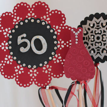 Adult Milestone Birthday Table Top Sign/Centerpiece 30th, 40th, 50th, 60th Birthday Centerpiece