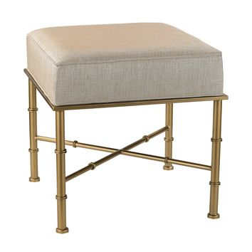 180-014 Gold Cane Bench in Cream Metallic - Free Shipping!