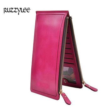High Capacity Purse Women Long Zipper Wallet And Female Luxury Leather Ladies Purses Clutch Card Holder Women's Wallets Wristlet