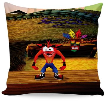 Crash Bandicoot Couch Pillow