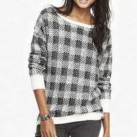 OVERSIZED PLAID TUNIC SWEATER from EXPRESS