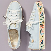Keds x Rifle Paper Co. Rosalie Embroidered Triple Kick Sneakers