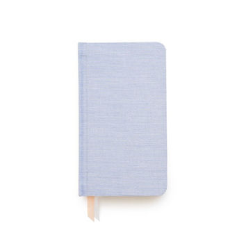 Petite Fabric Journal, Blue Pencil Stripe