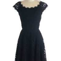 LBD Mid-length Cap Sleeves Fit & Flare Intrinsic Allure Dress