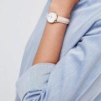 CLUSE La Vedette Pink Leather Watch CL50010 at asos.com