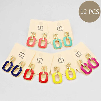 Bundle Earring Pack Multicolored (12 Pairs)