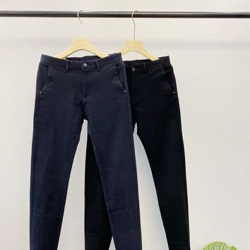 """""""Gucci"""" Men All-match Brushed High Waist Straight-leg Pants Distressed Tight Jeans Trousers Slim-fit Pants"""