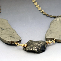 Pyrite Statement Necklace
