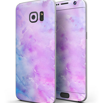 Washed 4322 Absorbed Watercolor Texture - Full Body Skin-Kit for the Samsung Galaxy S7 or S7 Edge