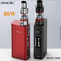 Electronic Cigarette Nano One Vape 80W Box Mod Kit Nano TFV4 or Brit Atomizer Vaporizer E cigarette Hookah Pen X8003