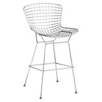 "Mid-Century Modern 28"" Barstool - Chrome (Set of 2) - ZM Home"