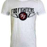 Foo Fighters Flash Wings Men's White T-Shirt - Buy Online at Grindstore.com
