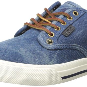 Polo Ralph Lauren Men's Vail-Sk-Vl Sneaker Blue 17 D(M) US '
