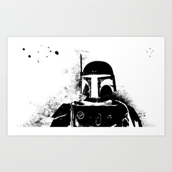 Bounty Hunter Art Print by Derek Delacroix