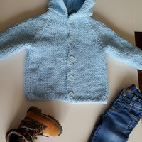 Hand knitted cardigan/jacket/coat/hoodie cardigan/duffel coat/knit/baby cardigan/kids style