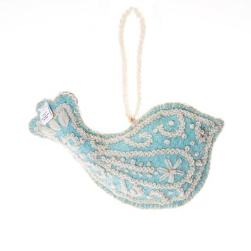 Dove Embroidered Holiday Ornament
