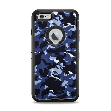 The Blue Vector Camo Apple iPhone 6 Plus Otterbox Defender Case Skin Set