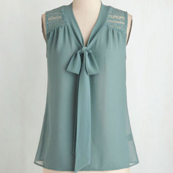 ModCloth Vintage Inspired Mid-length Sleeveless Science of Chic Top