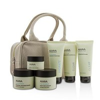 Ahava Hydrating Beauty Case Set: Cleansing Gel 100ml+Mud Mask 100ml+Cream Mask 100ml+Day 50ml+Night 50ml+Eye Cream 15ml+Bag Skincare