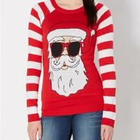 Santa Throwin' Shade Ugly Holiday Sweater