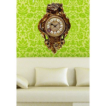 Fine Copper Clock,European living room big wall Creative mute clock table Household decoration