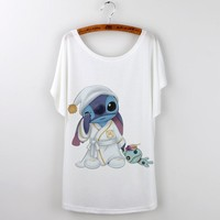 Harajuku 2016 Summer Tops Casual Zootopia Cartoon Print T shirt women Tshirt o-neck Short Sleeve Loose White Plus Size T-shirt