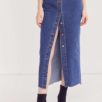 Dr. Denim Venla Button-Front Maxi Skirt - Urban Outfitters