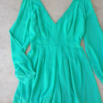 By the Bay Romper in Green [6729] - $42.00 : Feminine, Bohemian, & Vintage Inspired Clothing at Affordable Prices, deloom