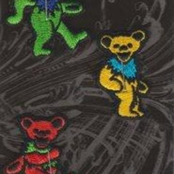 Grateful Dead Iron-On Patches Mini Dancing Bears Set Of 5
