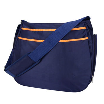 Shoulder Diaper Bag - Navy Blue And Orange Ultimate Hobo