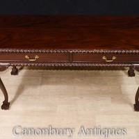 Canonbury - Mahogany Chippendale Console Table Server Ball and Claw Feet