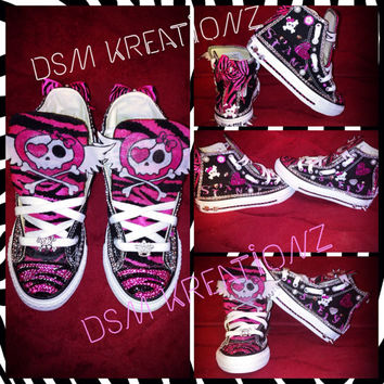 "Custom Themed ""Punk Princess"" Converse"