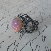 Harlequin Opal Ringsilver filigree version by ConnorInspiresAmy