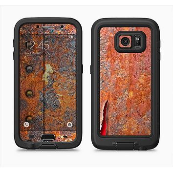 The Rusty Metal with Jagged Edge Full Body Samsung Galaxy S6 LifeProof Fre Case Skin Kit