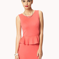 Sleeveless Knit Peplum Dress