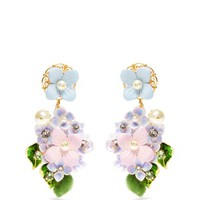 Hortensia embellished clip-on earrings | Dolce & Gabbana | MATCHESFASHION.COM US
