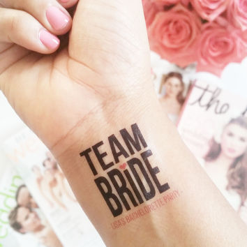 Temp Tattoo - Team Bride Bold Print