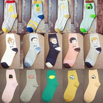 Food Fruit Sweet Series Avocado Socks Funny Crazy Cool Novelty Cute Fun Funky Colorful