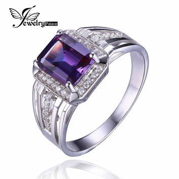 4.7ct High Quality Alexandrite Sapphire Engagement Wedding Ring Solid 925 Sterling Silver Brand New Men's Gem stone Jewelry