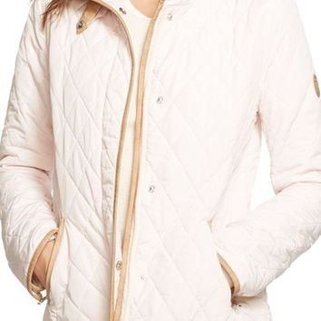 Lauren Ralph Lauren Faux Leather Trim Barn Jacket | Nordstrom