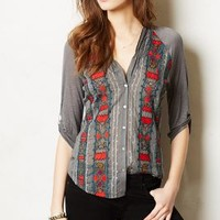 Tonnere Buttondown by Tiny Dark Grey L P Tops