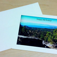 Birthday Greeting Card for Anyone; handmade photo card, birthday card, blank inside card